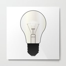 Isolated Light Bulb Metal Print