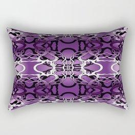 Puple heart swirl Rectangular Pillow