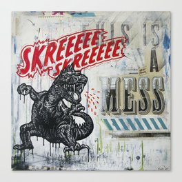 Skreeee Canvas Print