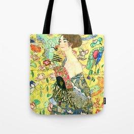 """Gustav Klimt """"Lady with fan"""" Tote Bag"""