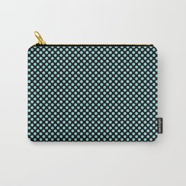 Black and Island Paradise Polka Dots Carry-All Pouch