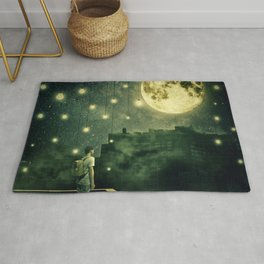 rooftops mystery night Rug