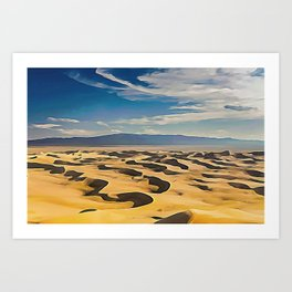 The Goby Desert Bivalent Shades Windy Decomposed Dunes Art Print