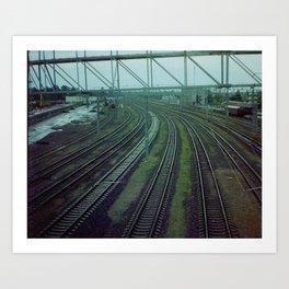 Russia. Railway. Art Print