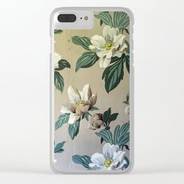 Vintage Gardenias Clear iPhone Case