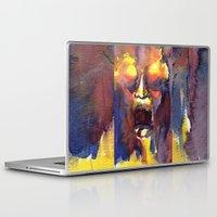 fear Laptop & iPad Skins featuring Fear  by Stevyn Llewellyn