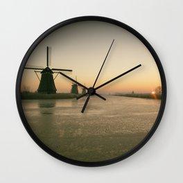 Sunrise at Kinderdijk IV Wall Clock
