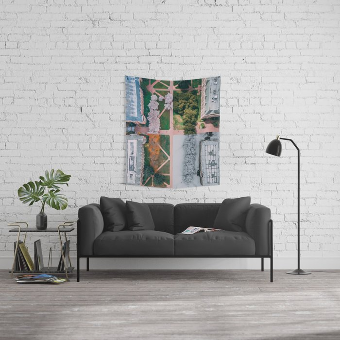 UW Cherry Blossoms: 4 Seasons Wall Tapestry