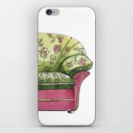 Green sofa iPhone Skin