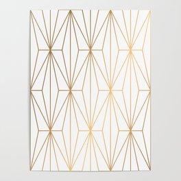Gold Geometric Pattern Illustration Poster