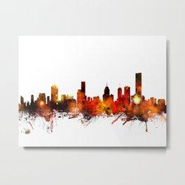 Melbourne Australia Skyline Metal Print