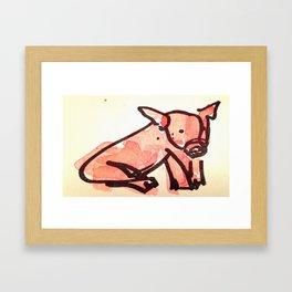 Little Piggie Framed Art Print