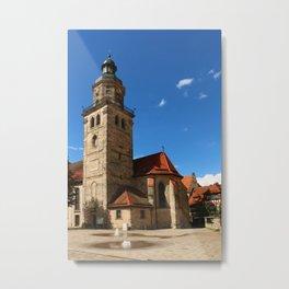 A Church In A Bavarian Village Metal Print