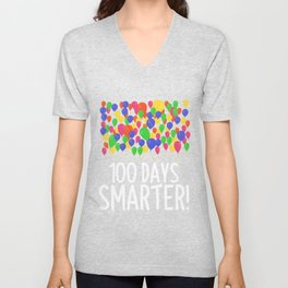 100 days smatter Unisex V-Neck
