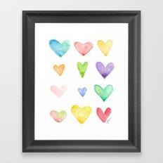 Heart of Hearts Framed Art Print