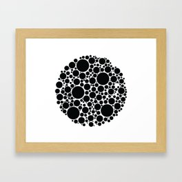 Packed Circles Black and White Framed Art Print