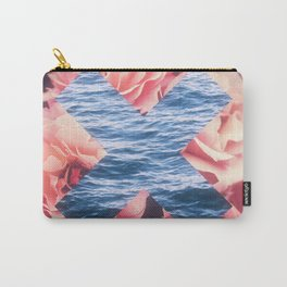 flowers - roses - ocean - waves Carry-All Pouch