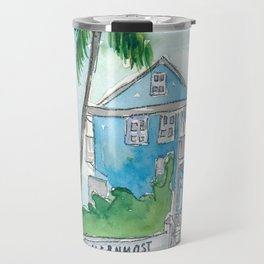 Key West Florida Conch Dream House - Southernmost Street Scene Travel Mug