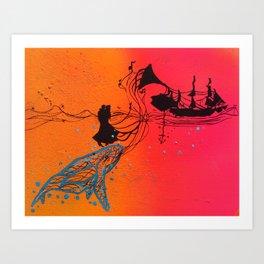 The Ocean Sings The Blues Art Print