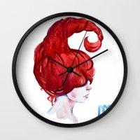 scorpio Wall Clocks featuring Scorpio by Aloke Design