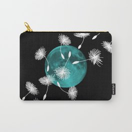 Turquoise Moon with Dandelions Carry-All Pouch