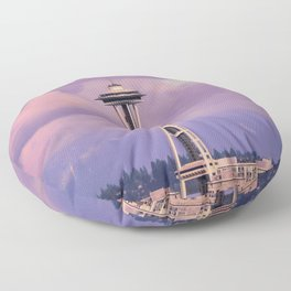 Seattle Space_Needle Floor Pillow