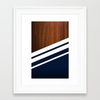 navy Framed Art Prints featuring Wooden Navy by Nicklas Gustafsson