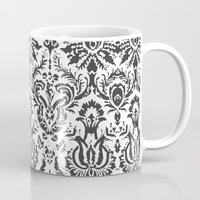 damask Mugs featuring Damask by Pink Fox Designs