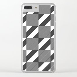 Checkers and Stripes Clear iPhone Case