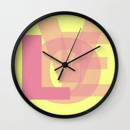 L-OVE Wall Clock