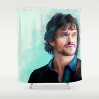 will graham Shower Curtains featuring Will Graham by The Wayward Daughter