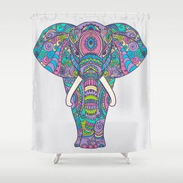 Elephant in Colors Shower Curtain