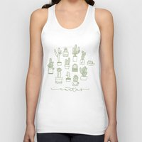 cactus Tank Tops featuring Cactus  by Chee Sim
