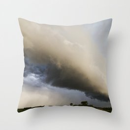 Shelf Cloud Over Country Road 3 Throw Pillow