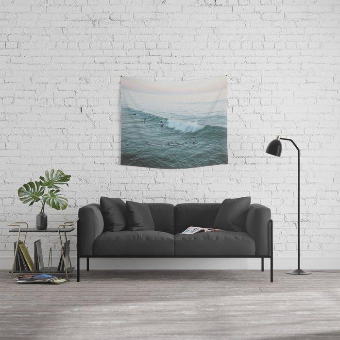 Let's Surf V Wall Tapestry