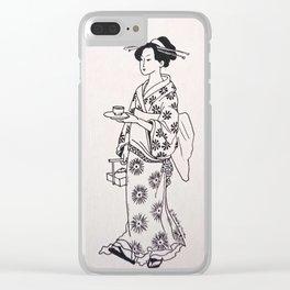 Geisha #1 Clear iPhone Case