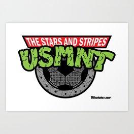 USMNT -- A FEARSOME SOCCER TEAM Art Print