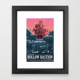Hollow Bastion (Kingdom Hearts) Travel Poster Framed Art Print