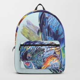 Psychedelic Parrot Australian Cockatoo Backpack