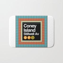 subway coney island sign Bath Mat