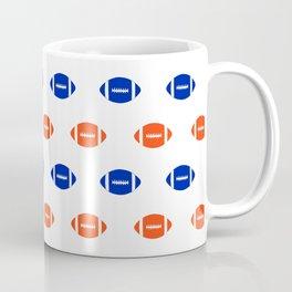 Florida fan university gators orange and blue college sports footballs pattern Coffee Mug