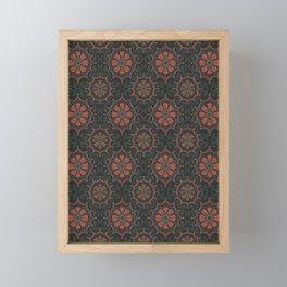 Folk flower Framed Mini Art Print