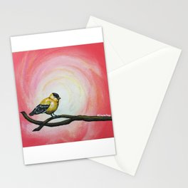 Minimalist Goldfinch Stationery Cards