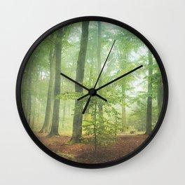 Hazy Summer Forest Wall Clock