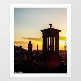 Sunset from Calton Hill Art Print