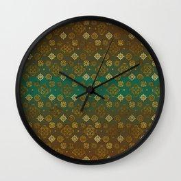 Ethnic Aztec symbols pattern Wall Clock