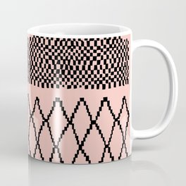 Moroccan Patchwork in Pink Coffee Mug