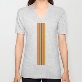 stripe Unisex V-Neck
