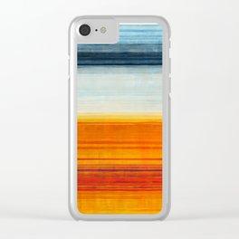 Yellowstone Orange Clear iPhone Case