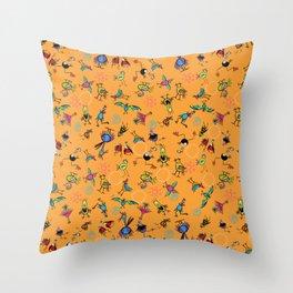 Bird Explosion fun Throw Pillow